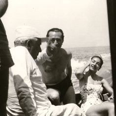 Personal photographs. On holiday with friends, off the coast of Naples, 1956