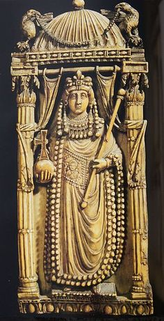 jeannepompadour:  Ivory sculpture of Byzantine Empress Ariadne from Constantinople, 6th c.