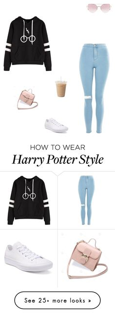 """Untitled #96"" by padeanuamalia on Polyvore featuring Topshop, LMNT, SHAN and Converse"
