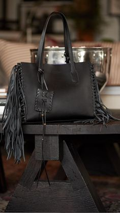 Ralph Lauren Polo Leather Tote Black