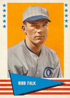 1961 Fleer Baseball Greats #104 Bibb Falk Front