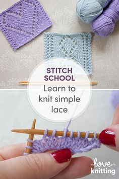 Learn to knit Simple Lace with our FREE lace knitting tutorial by Anna Nikipirowicz. Find the full post on the LoveKnitting blog.