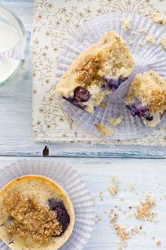 Blueberry Hazelnut Muffins (Gluten-Free option)