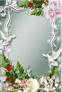 GIFY I OBRAZKI: RAMKI RÓŻNE Frame Border Design, Page Borders Design, Photo Frame Design, Rose Frame, Flower Frame, Wedding Frames, Wedding Cards, Picture Borders, Boarders And Frames