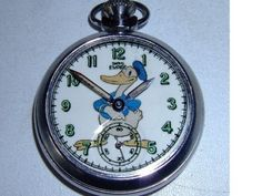 Vintage Donald Duck character dial pocket watch |