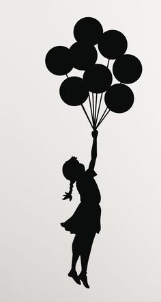 Mothers Day Drawings Discover Banksy Girl Balloons Vinyl Wall Decal/Sticker - Decor for laptop car wall window mirror etc. Arte Banksy, Banksy Art, Bansky, Art Drawings Sketches, Easy Drawings, Wall Decal Sticker, Vinyl Decals, Wall Stickers, Image Stickers
