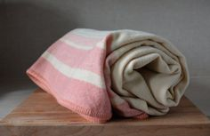 Vintage Wool Blanket. Large Canadian Wool Blanket. by catbedoven, $60.00