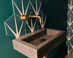 Concrete Basin, Concrete Bathroom, Concrete Counter, Concrete Art, Polished Concrete, Bathroom Plants, Aberdeen, Small Sink, Small Toilet