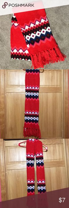 Bright Colored Scarf Old Navy Scarf, bright red, pink, purple, blue, black, and white, hand wash, extra long Old Navy Accessories Scarves & Wraps