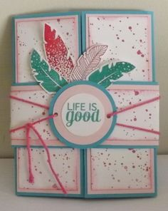 made this card for the Artful stampers colour challenge using Whisper white, strawberry slush, Pink Pirouette and Bermuda bay