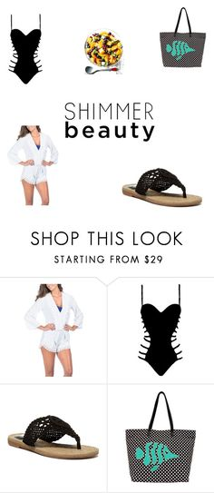 """""""Summer beach day"""" by stephen-james-lover ❤ liked on Polyvore featuring La Blanca, Agent Provocateur, MIA and Venus"""