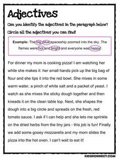 Adjectives Worksheet | KidsKonnect