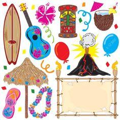 convite festa havaiana - Pesquisa Google