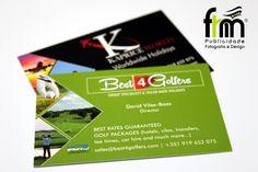 Cartões Comerciais 85x54mm Cliente: Best4Golfers e Kapriceworld