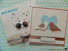 DIY: Wedding card - lovebirds theme