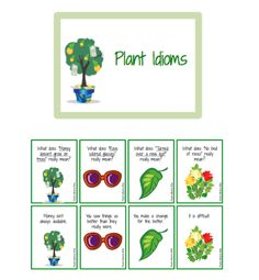 Plant Idioms   - Pinned by @PediaStaff – Please Visit  ht.ly/63sNt for all our pediatric therapy pins