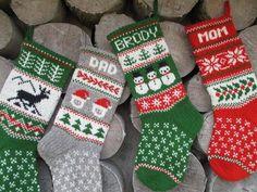FOR 2020 Christmas Stockings 18 Personalized Wool Christmas Sock, Knitted Christmas Stockings, Christmas Knitting, Knitting Socks, Hand Knitting, Knitting Patterns, Crochet Cross, Knit Crochet, Santa Head