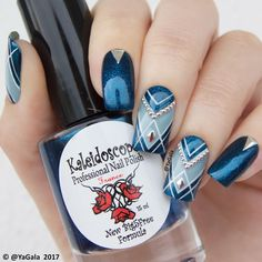 "8,477 Likes, 32 Comments - Galina S. (@yagala) on Instagram: ""Geometric nail design. El Corazon No.423/309; Kaleidoscope No.nd-09 @el_corazon_shop . .…"""