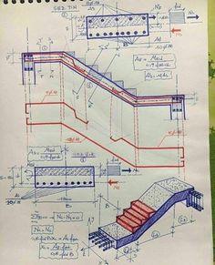 Cálculo de momentos esforços e dimensionamento de escada