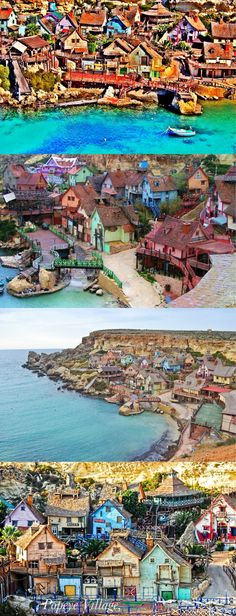 Popeye Village, also known as Sweethaven Village, is a group of rustic and ramshackle wooden buildings located at Anchor Bay in the north-west corner of the Mediterranean island of Malta, two miles from the village of Mellieħa.It was built as a film set for the production of the 1980 live-action musical feature film Popeye, produced by Paramount Pictures and Walt Disney Productions and starring Robin Williams.