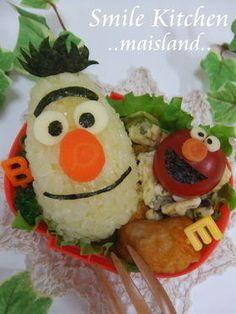 Sesame Street Kyaraben Onigiri Bento Lunch