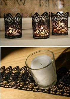 Lace and candles