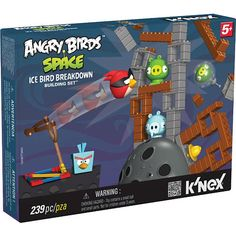 One lucky reader is going to win the K'NEX Angry Birds Space Building Set – Ice Bird Breakdown!