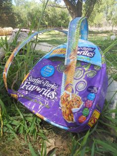 recycled feed bag Friskies Surfin' & Turfin' Toddler Backpack  love it!