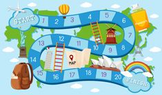 A City Of More Than Angels – Travel Information Board Game Template, Banner Template, Card Games For Kids, Tourism Day, Gaming Banner, English Lessons For Kids, Diy Games, School Readiness, School Themes