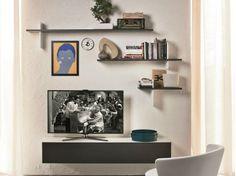 Meuble tv / étagère murale CROSS by Cattelan Italia | design Philip Jackson