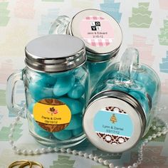 Wedding Favor Candy Jars. Might do this if I have a fall wedding and ...