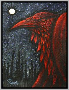 Lightbringer by AaronPaquette Doesn't he look fierce? Raven Totem, Raven Art, Raven And Wolf, Quoth The Raven, Crow Art, Bird Art, Crows Ravens, Bird Wings, Illustration