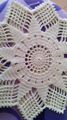 Crochet Round Cream White Doily Centerpiece Crochet Home Decor Crochet Table Decor made in Lithuania Col Crochet, Crochet Doily Rug, Crochet Beanie Pattern, Crochet Doily Patterns, Crochet Tablecloth, Crochet Round, Cotton Crochet, Thread Crochet, Filet Crochet
