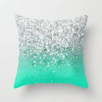 Glitteresques Throw Pillow by Rain Carnival