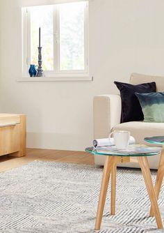 Interieuridee: haal (nog) meer warmte en gezelligheid in huis met een fantastisch vloerkleed. Zoals wollen vloerkleed Mart van Goossens! 100% niet pluizende wol, een modern patroon én neutrale kleuren. // Goossens @ Villa ArenA