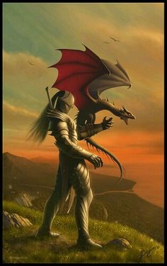 The Dragon Tamer by Nick Deligaris Fantasy Dragon, Fantasy Warrior, Dragon Art, Dragon Knight, Dragon Rider, True Blood, Dragon Pictures, Cool Pictures, Dragon Pics