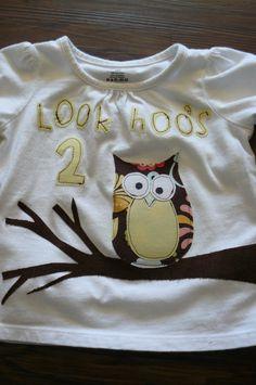 Small Fry & Co.: Hoo's 2 Shirt- Owl Birthday Week Day 2