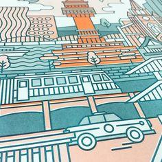 리소그라피 특유의 텍스처, 자세히 볼수록 더욱 고급스러운 느낌이 난답니다.  city seoul design poster / size A3 . . #kkoya#리소그라프#risograph#디자인#graphicdesign#주부스타그램#graphic#print#인쇄#소통#좋아요#포스터#poster#일상#daily#맞팔#디자인스타그램#인테리어#interior#designer#style#너와나#follow#adobeillustrator#korea#icon#interior#living#파리#illust#seoul
