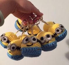 Hi Everyone! I am finished with all eleven Minion key chains. They were for my niece 7th birthday! I packed them into cute little plastic baggies with a little tag. YAY! I hope they all go to good homes and that my niece had a blast on her birthday! Checkthem out hanging below! Thanks for …
