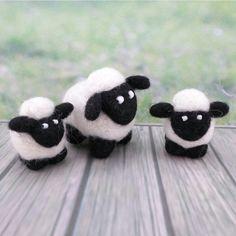 This lamb is so sweet like you!  Esta ovejita es tan linda como tú! www.gattinigifts.etsy.com #sheep #lamb #wool #felt #toy #fiber #art #etsy #gift #christmas #figurines #prettylittlethings #cute #madebyme #handmadewithlove #socute #oveja #cordero #lana