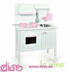 Cocina Madera Topo rosa - Accesorios muñecas la ninan 129