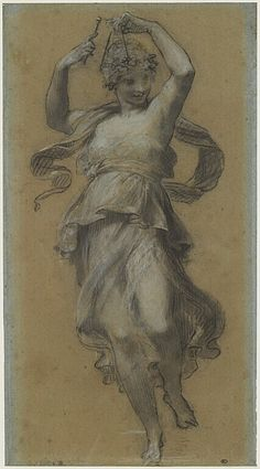 PRUD& Pierre Paul La Danseuse au triangle - in Cluny . Beautiful Drawings, Cool Drawings, Drapery Drawing, Statues, Pierre Paul, Art Du Croquis, Art Ancien, Classic Paintings, Greek Art