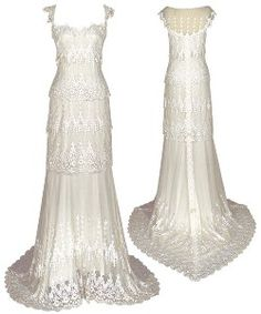 floor lenght cap sleeves victorian wedding dress | Claire Pettibone Couture Bridal Gowns and Veils | Shop | Kaboodle