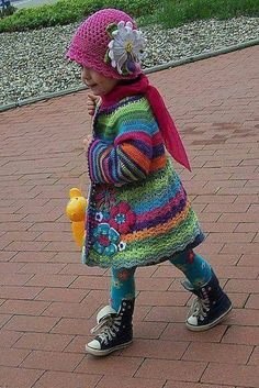 Cute girl in crochet