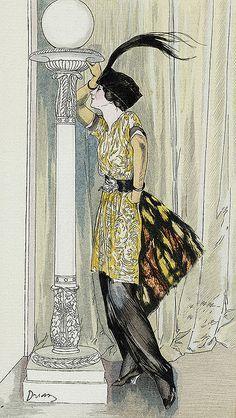 Tunique de mousseline by Drian 1913