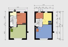 TAUTs HOME (rentable museum apartment in Berlin) > Rooms, floor plans and layout Vintage Interior Design, Vintage Home Decor, Bauhaus, Berlin Zehlendorf, Functionalism, Ground Floor Plan, 3d Max, World Heritage Sites, Color
