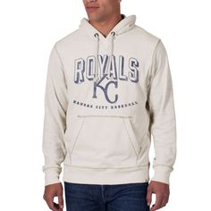 Kansas City Royals 47 Brand Sandstone White Scrum Slugger Sweatshirt Hoodie 252f3c0b8