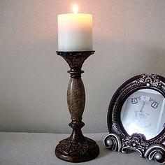 """9.5 """"H antik stil Delicate Polyresin Kandelabre Candle Holder – USD $ 29.99"""