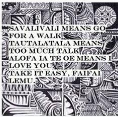"A Samoan ""nursery rhyme"", sort of."