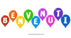 Striscione Benvenuti con palloncini